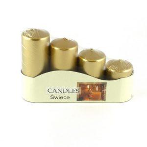 sviečky adventné postupné 50-4 metalik  zlaté 4,80 EUR
