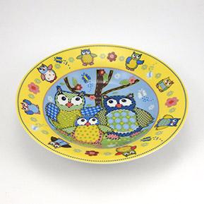Detský tanier hlboký, porcelán sova