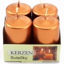 Advent sviečka 40/60 metalik medená