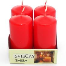 Advent sviečka 40/80 červená