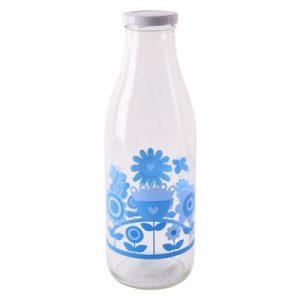 Fľaša na mlieko kvety 1l