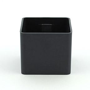 Magnetický kvetináč Cube 6cm čierny