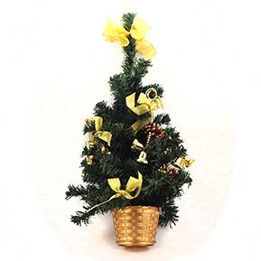 Vianočný-stromček-v-kvetináči-zlaty