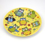 Detský tanier porcelán sova