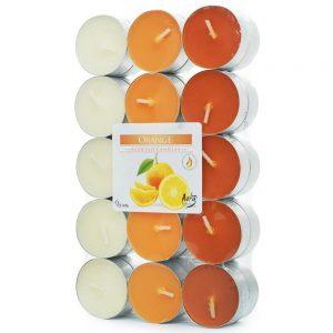 čajové sviečky 30ks pomaranč