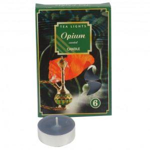 čajové sviečky 6ks opium