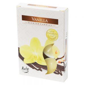Čajové sviečky 6ks vanilka