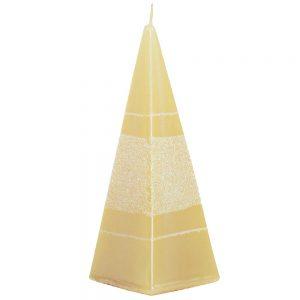 Sviečka briliant pyramída smotana 15cm