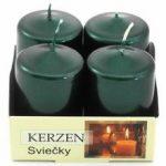 Advent sviečka 40/60 metalik zelená