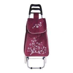 Nákupná taška na kolieskach Bordová