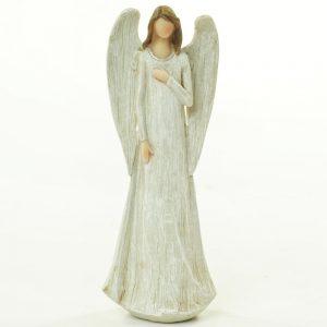 Drevený anjel biely