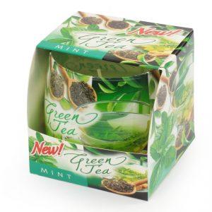 Sviečka v skle zelený čaj
