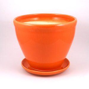 Keramický kvetináč Malva oranžový