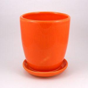 Keramický kvetináč klasik oranžový