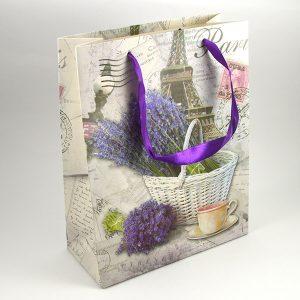 Darčeková taška 26x32 levanduľa