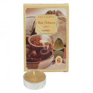 Čajové sviečky 6ks antitabak