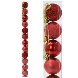 Vianočné gule 4cm červené