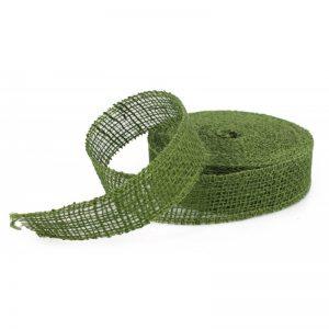 Stuha juta zelená