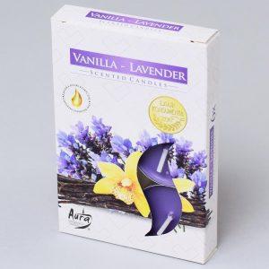 Čajové sviečky 6ks vanilka levanduľa