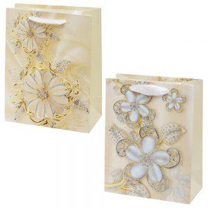 Darčeková taška kvety 18x23