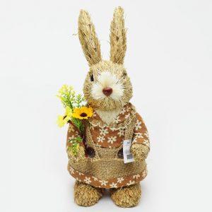 Zajačik slamený s kvetom