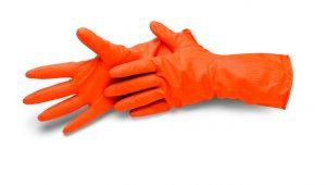 Rukavice na upratovanie Cleanstar oranžové