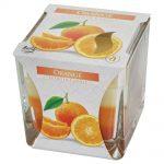 Voňavá sviečka v skle pomaranč trikolor