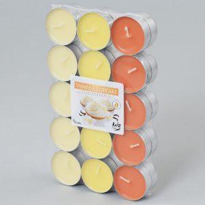 Čajové sviečky 30ks sušienka vanilka
