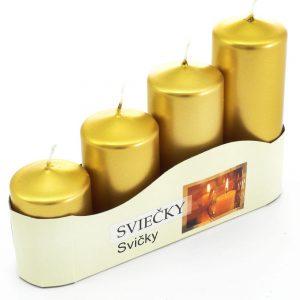 Advent sviečka postupná 50/4 zlatá metalik