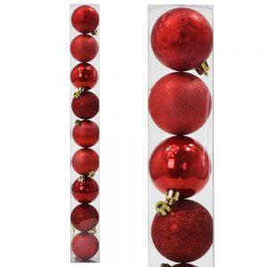 Vianočné gule 6cm červené