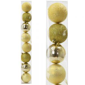 Vianočné gule 8cm zlaté