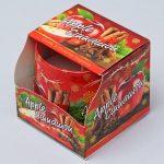 Voňavá sviečka v skle Vianoce jablko škorica