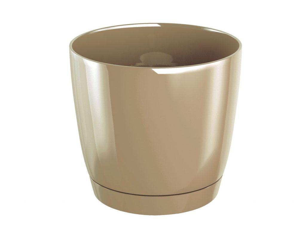 Kvetináč COUBI okrúhly s miskou cappuccino