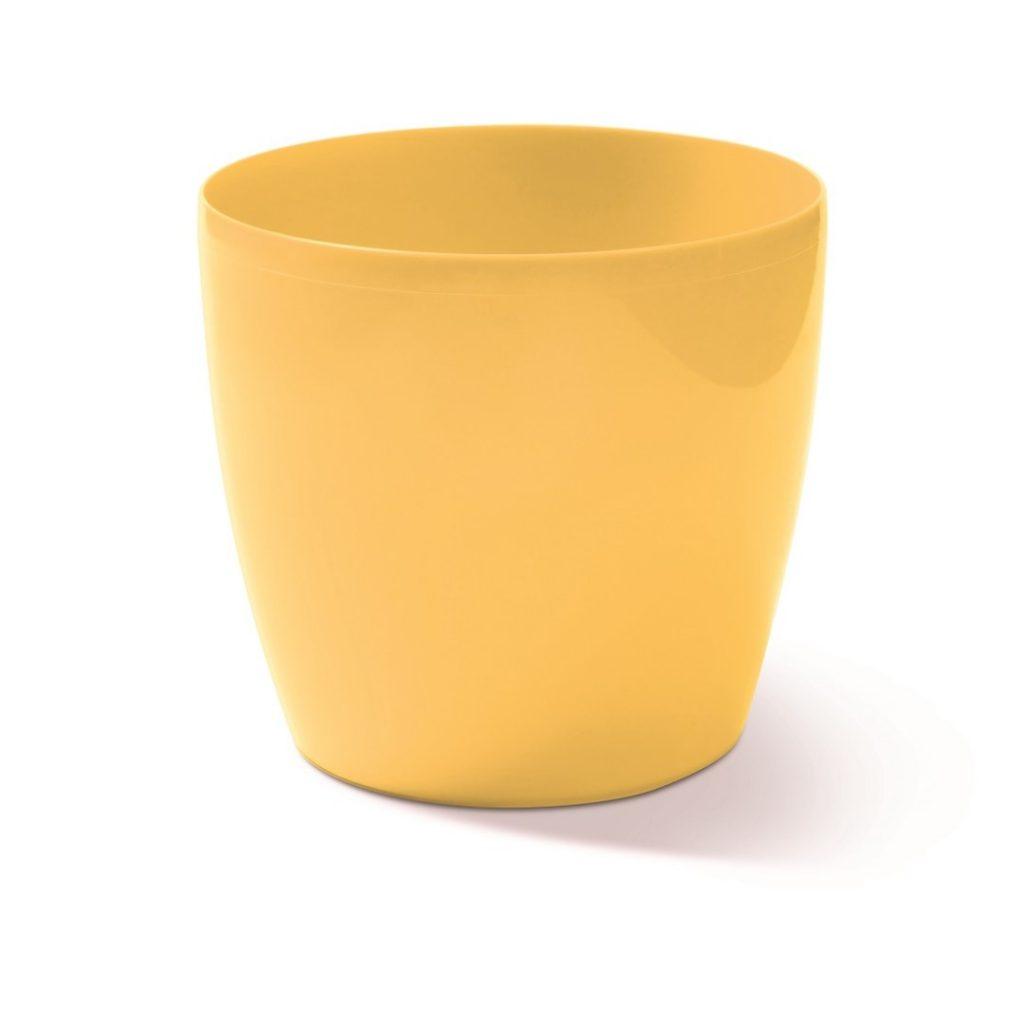 Kvetináč COUBI okrúhly žltý