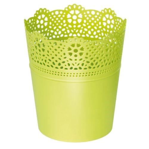 Kvetináč LACE krajka zelený limetka