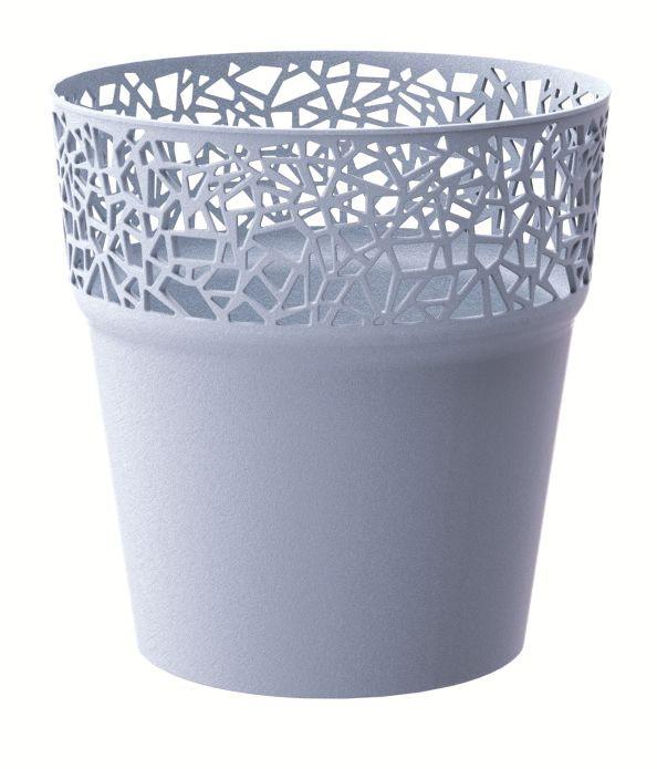 Kvetináč TREE ľadovo sivý