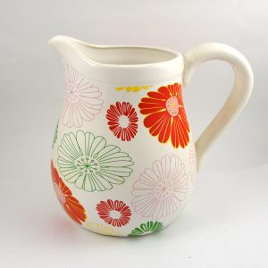 Keramický džbán kvety