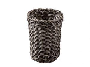 Košík na príbory šedý umelý ratan