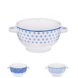 Miska keramika bielo modrá