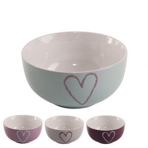 Miska keramika srdce