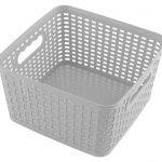 Plastový košík štvorec sivý 4,5l