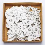 Motýľ biely drevo 50ks