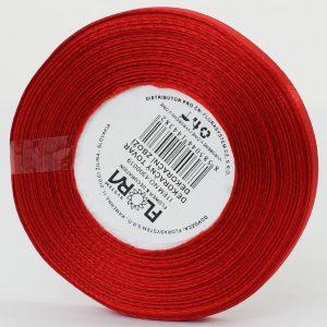 Stuha satén 10mm červená č.163